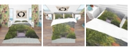 Design Art Designart 'Foggy Dawn In Japanese Garden' Bohemian and Eclectic Duvet Cover Set - Queen