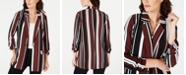 Alfani Striped Ruched-Sleeve Topper Jacket, Created for Macy's