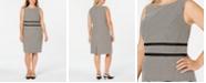 Kasper Plus Size Printed Sheath Dress