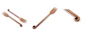 Vibhsa Treble Note Appetizer Copper Finish Forks - Set of 6