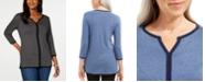 Karen Scott Cotton Tipped Tunic, Created for Macy's