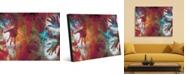 "Creative Gallery Handy Scarlet Phantoms Abstract Portrait Metal Wall Art Print - 24"" x 36"""