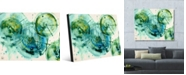 "Creative Gallery Xolog Omega Abstract Portrait Metal Wall Art Print - 16"" x 20"""