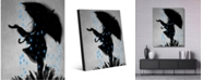 "Creative Gallery Rainy Days Go Away Portrait Metal Wall Art Print - 16"" x 20"""