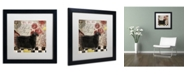 "Trademark Global Color Bakery 'Baa Baa Black Sheep' Matted Framed Art - 16"" x 16"""