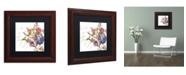 "Trademark Global Color Bakery 'La Belle Vie II' Matted Framed Art - 11"" x 11"""