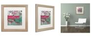"Trademark Global Color Bakery 'Serendipity I' Matted Framed Art - 16"" x 16"""