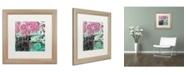 "Trademark Global Color Bakery 'Serendipity II' Matted Framed Art - 16"" x 16"""