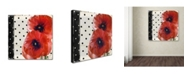 "Trademark Global Color Bakery 'Scarlet Poppies I' Canvas Art - 24"" x 24"""