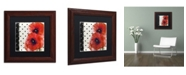 "Trademark Global Color Bakery 'Scarlet Poppies I' Matted Framed Art - 11"" x 11"""