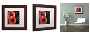 "Trademark Global Color Bakery 'Scarlet Poppies II' Matted Framed Art - 11"" x 11"""