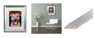"""Trademark Global Dean Russo 'Best Dog' Matted Framed Art - 16"""" x 20"""""""