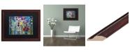 """Trademark Global Carrie Schmitt 'Pincha Mayurasana' Matted Framed Art - 16"""" x 20"""""""