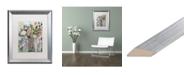 """Trademark Global Carrie Schmitt 'Spring Showers' Matted Framed Art - 16"""" x 20"""""""