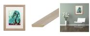 "Trademark Global Natasha Wescoat 'Spritely Blue Willows' Matted Framed Art - 16"" x 20"""