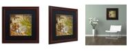 "Trademark Global Color Bakery 'Taste Of Africa II' Matted Framed Art - 16"" x 16"""