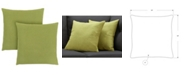 """Monarch Specialties 18"""" x 18"""" Patterned Pillow, Set Of 2"""