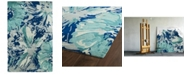Kaleen Brushstrokes BRS06-17 Blue 8' x 11' Area Rug
