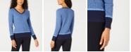 Karen Scott Petite Long-Sleeve Sweater, Created for Macy's
