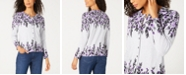 Karen Scott Darcy Oasis Button-Front Cardigan, Created for Macy's