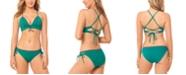 Salt + Cove Juniors' Solid Push-Up Bikini Top & Strappy-Side Hipster Bikini Bottoms, Created for Macy's