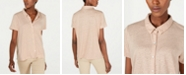 Eileen Fisher Button Down Organic Cotton Shirt