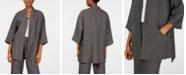 Eileen Fisher Micro-Check Kimono Jacket