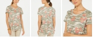 Style & Co Cotton Printed Scoop-Neck Top, Created for Macy's