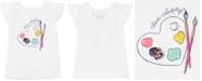 Carter's Little & Big Girls Bow-Back Paint-Print Cotton T-Shirt