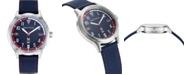 Nautica N83 Men's NAPCFS910 Crissy Field Blue/Red Silicone Strap Watch