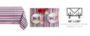 "Design Imports Patriotic Stripe Outdoor Tablecloth 60"" x 120"""
