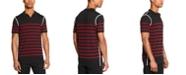 DKNY Men's Colorblocked Stripe Sweater Polo Shirt