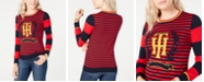 Tommy Hilfiger Striped Crest Sweater, Created for Macy's
