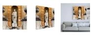 "Trademark Global Philippe Hugonnard Dolce Vita Rome 3 Vatican Statue Canvas Art - 15.5"" x 21"""