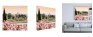 "Trademark Global Philippe Hugonnard Made in Spain 3 Summer Flowers of Alhambra Gardens II Canvas Art - 15.5"" x 21"""