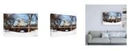 "Trademark Global Philippe Hugonnard Winter Crossing Bridge Canvas Art - 36.5"" x 48"""