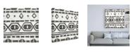 "Trademark Global June Erica Vess Tribal Textile II Canvas Art - 36.5"" x 48"""