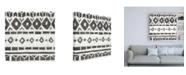 "Trademark Global June Erica Vess Tribal Textile IV Canvas Art - 36.5"" x 48"""