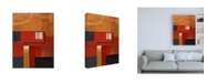 "Trademark Global Pablo Esteban Red Squares with Orange Canvas Art - 19.5"" x 26"""