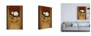 "Trademark Global Pablo Esteban Two White Flowers Canvas Art - 15.5"" x 21"""