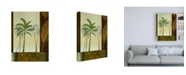 "Trademark Global Pablo Esteban Palm Trees and Leaves Canvas Art - 15.5"" x 21"""