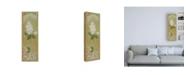 "Trademark Global Pablo Esteban White Lilac with Scroll Border Canvas Art - 27"" x 33.5"""