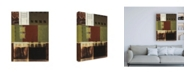 """Trademark Global Pablo Esteban Green Black and Red Squares Canvas Art - 19.5"""" x 26"""""""