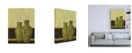 "Trademark Global Pablo Esteban Two Green Vases Canvas Art - 36.5"" x 48"""