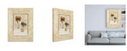 "Trademark Global Pablo Esteban Palm Tree and Two Zebras Canvas Art - 19.5"" x 26"""