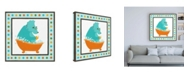 "Trademark Global June Erica Vess Rub a Dub Dino III Childrens Art Canvas Art - 36.5"" x 48"""