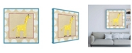 "Trademark Global Chariklia Zarris Katherines Giraffe Childrens Art Canvas Art - 36.5"" x 48"""