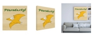 "Trademark Global Megan Meagher Pterodactyl Childrens Art Canvas Art - 19.5"" x 26"""