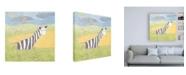 """Trademark Global Megan Meagher Quinns Zebra Canvas Art - 15.5"""" x 21"""""""