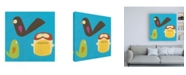"Trademark Global June Erica Vess Feathered Friends IV Canvas Art - 36.5"" x 48"""